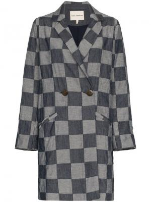 Блейзер Dolly в шашечку Mara Hoffman. Цвет: синий