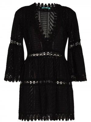 Платье мини Victoria Melissa Odabash. Цвет: черный