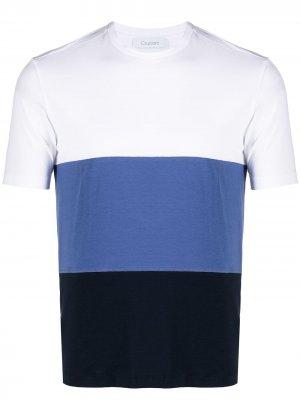 Полосатая футболка в стиле колор-блок Cruciani. Цвет: белый