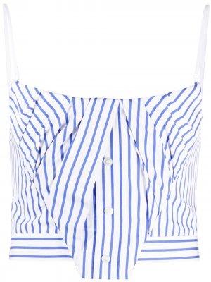 Топ-бюстье с вытачками Alexander Wang. Цвет: белый