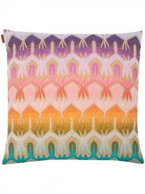 Квадратная подушка Pasadena Missoni Home. Цвет: розовый