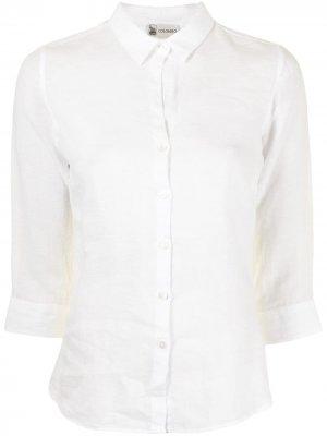 Рубашка с укороченными рукавами Colombo. Цвет: белый
