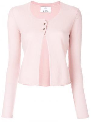 Трикотажный кардиган Allude. Цвет: розовый и фиолетовый