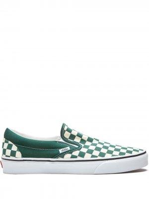 Слипоны Classic Slip-On Vans. Цвет: зеленый