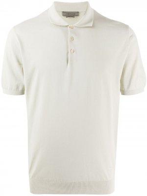 Рубашка поло с короткими рукавами Corneliani. Цвет: нейтральные цвета