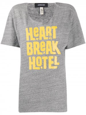 Футболка Heart Break Hotel R13. Цвет: heather grey