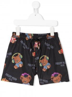 Плавки-шорты с принтом Philipp Plein. Цвет: черный
