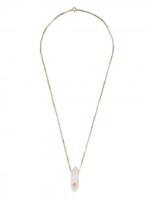 Колье Prana Nº2 из желтого золота с бриллиантами Pascale Monvoisin. Цвет: золотистый