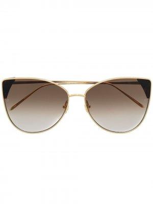 Солнцезащитные очки Ida Linda Farrow. Цвет: золотистый