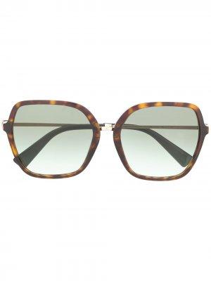 Солнцезащитные очки VA4077 в квадратной оправе Valentino Eyewear. Цвет: черный