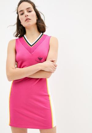 Платье EA7. Цвет: розовый