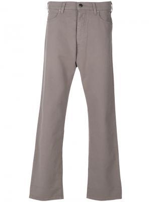Расклешенные джинсы Armani Jeans. Цвет: серый