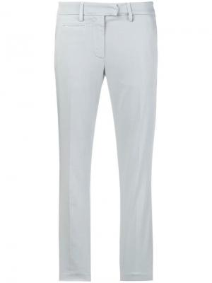 Укороченные джинсы свободного кроя Dondup. Цвет: серый