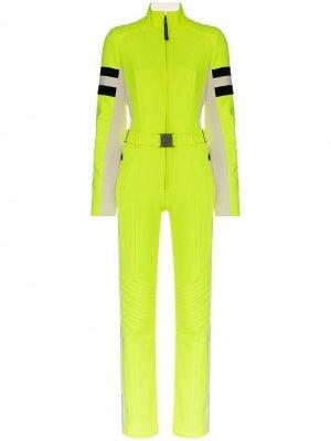 Лыжный костюм с контрастными полосками Bogner. Цвет: желтый