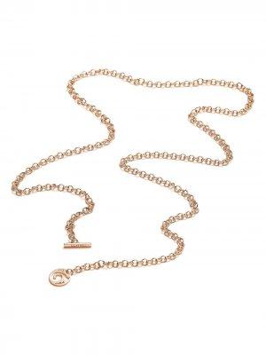 Цепочка на шею из розового золота MATTIOLI. Цвет: розовый