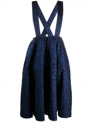 Платье-сарафан Comme Des Garçons. Цвет: синий