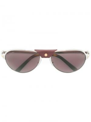 Santos de  sunglasses Cartier. Цвет: металлик