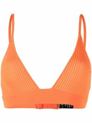 Бюстгальтер в рубчик с треугольными чашками Dodo Bar Or. Цвет: оранжевый
