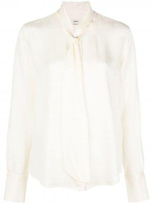 Блузка с завязками на воротнике Jason Wu. Цвет: белый
