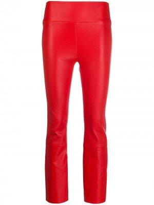 Укороченные брюки с завышенной талией Sprwmn. Цвет: красный