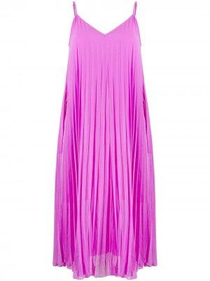 Плиссированное платье миди Essentiel Antwerp. Цвет: фиолетовый