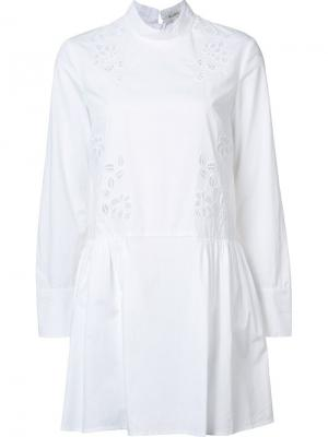 Расклешенное платье Suno. Цвет: белый