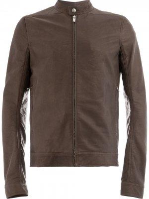 Moto jacket Rick Owens. Цвет: коричневый
