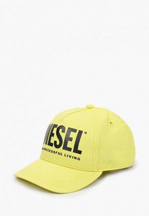 Бейсболка Diesel. Цвет: желтый
