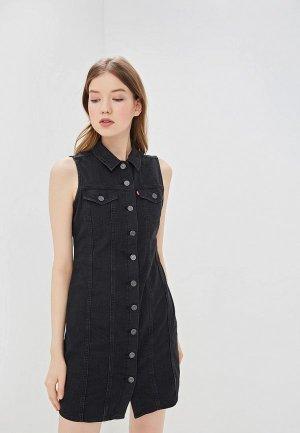 Платье джинсовое Levis® Levi's®. Цвет: черный
