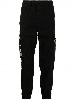 Спортивные брюки с логотипом AAPE BY *A BATHING APE®. Цвет: черный