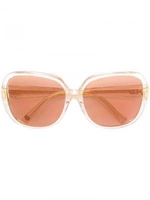 Квадратные солнцезащитные очки с затемненными линзами Dita Eyewear. Цвет: розовый