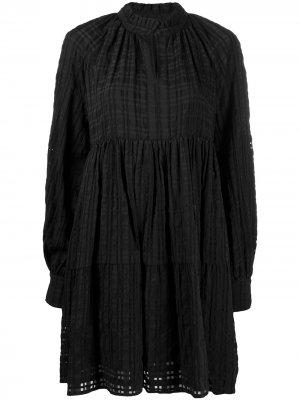 Ярусное платье мини Jasmine Stine Goya. Цвет: черный