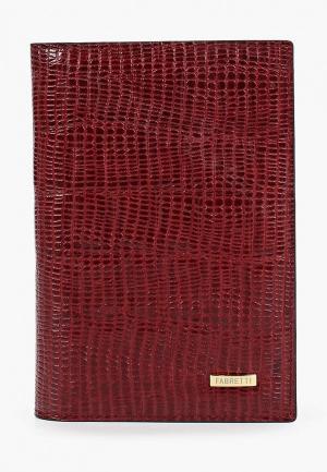 Обложка для документов Fabretti. Цвет: бордовый