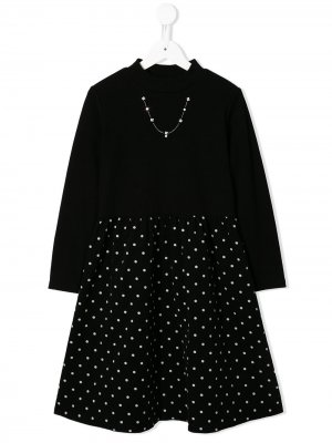 Платье из джерси и вельвета Familiar. Цвет: черный