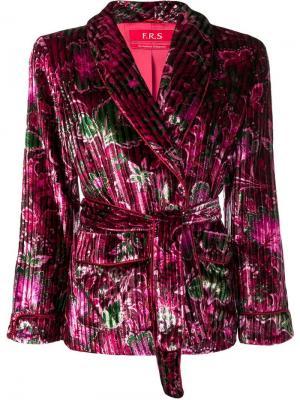 Бархатный пижамный топ с цветочным узором F.R.S For Restless Sleepers. Цвет: розовый