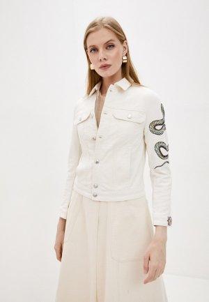 Куртка джинсовая Zadig & Voltaire. Цвет: бежевый