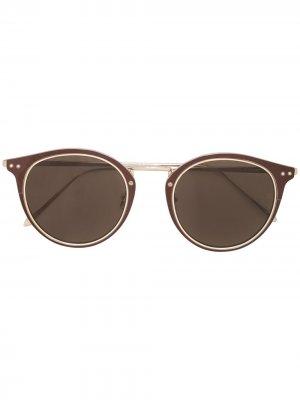 Солнцезащитные очки Cooper Linda Farrow. Цвет: коричневый