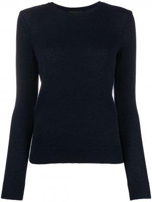 Приталенный кашемировый пуловер Theory. Цвет: синий