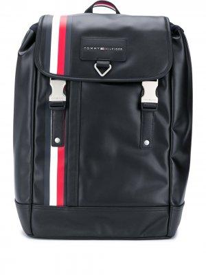 Рюкзак с кулиской и нашивкой-логотипом Tommy Hilfiger. Цвет: черный