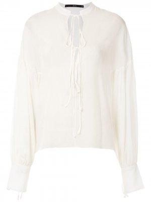 Блузка с пышными рукавами Eva. Цвет: белый