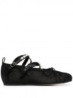 Декорированные балетки Simone Rocha. Цвет: черный