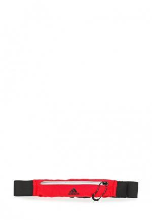 Пояс для бега adidas. Цвет: красный