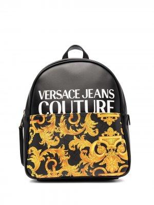 Рюкзак с принтом Barocco Versace Jeans Couture. Цвет: черный