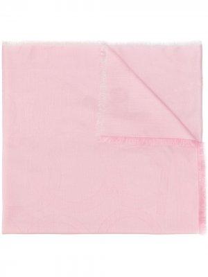 Жаккардовая шаль Gancini Salvatore Ferragamo. Цвет: розовый