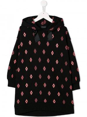 Платье-толстовка с логотипом Marcelo Burlon County Of Milan Kids. Цвет: черный