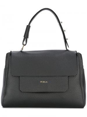 Средняя сумка-тоут Capriccio Furla. Цвет: чёрный