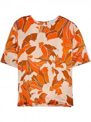 Блузка Saxonne с принтом Equipment. Цвет: оранжевый
