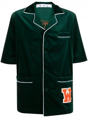 Рубашка с короткими рукавами Off-White. Цвет: зеленый