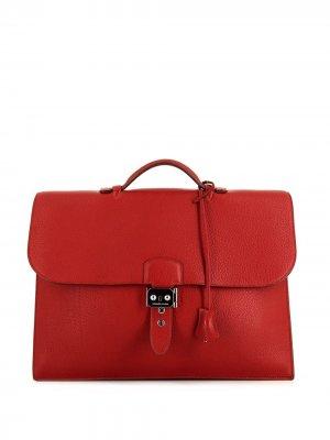 Портфель Sac à Dépêches 2009-го года Hermès. Цвет: красный