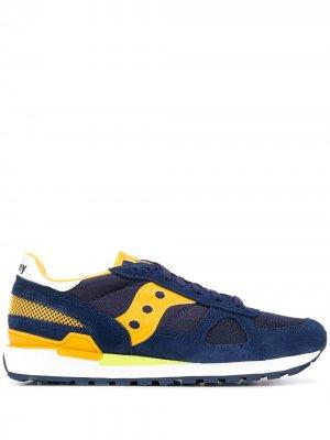 Кроссовки в стиле колор-блок Saucony. Цвет: синий